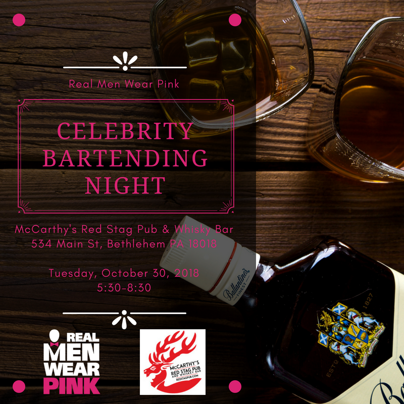 Real Men Wear Pink – Celebrity Bartending Night