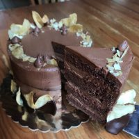 Chocolate Potato Crisp Cake