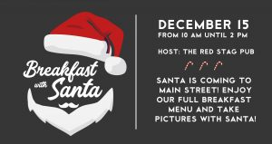 breakfast with santa at the red stag pub